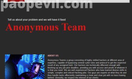 Anonymous Team – Thuê Hacker ở Deep Web
