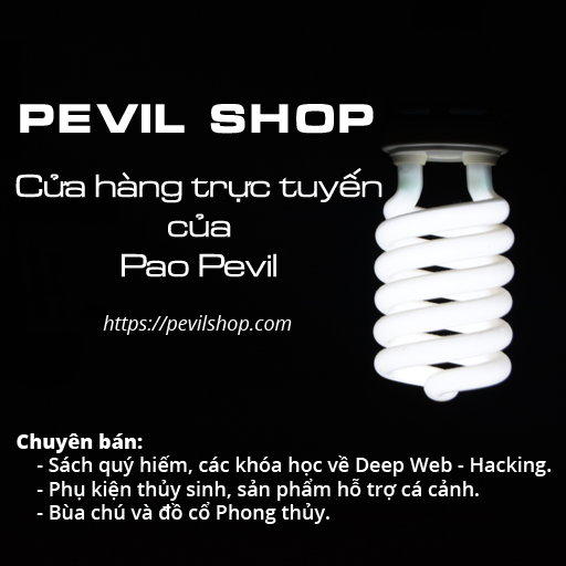 Advertisement for Pevil Shop