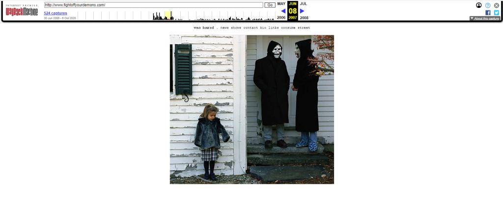 trang web cũ của ban nhạc brand new