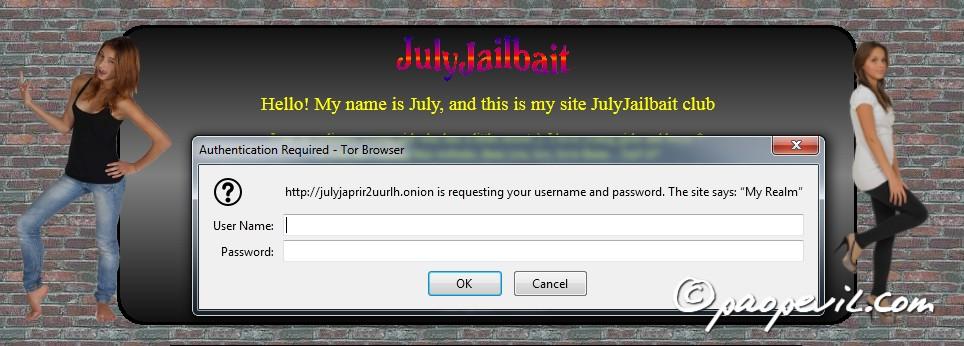 khu vực đăng nhập vào julyjailbait