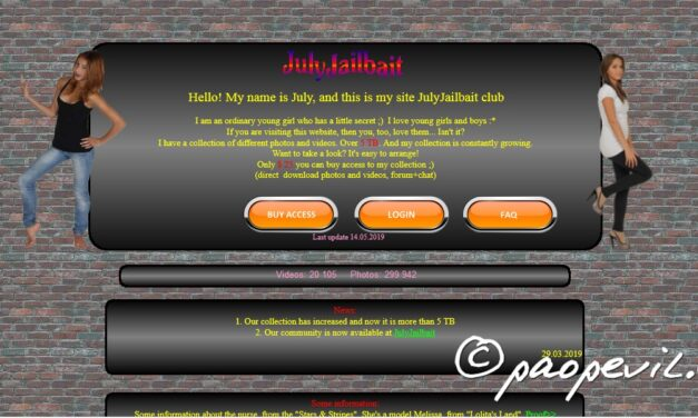 JulyJailbait – Chứa hơn 5Tb nội dung người lớn ở Deep Web