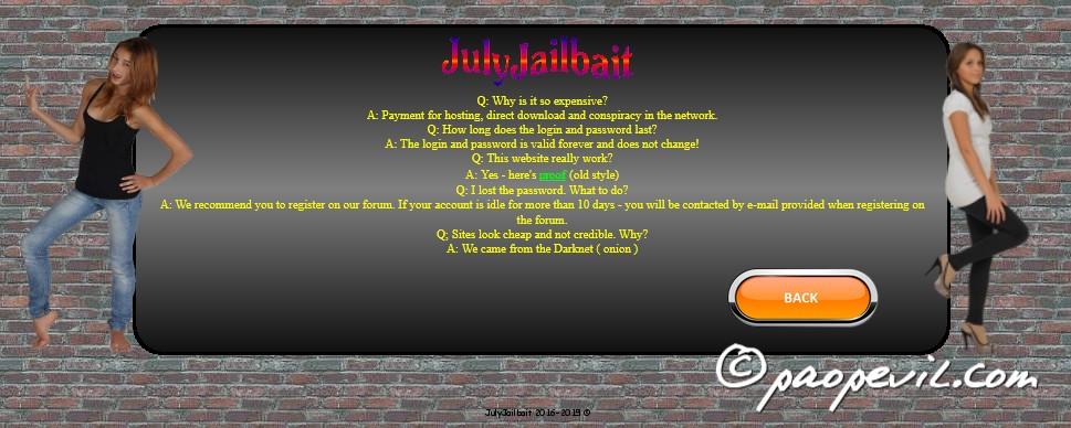 những câu hỏi xoay quanh julyjailbait