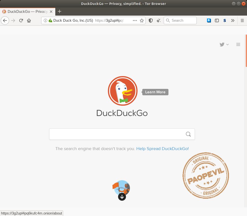 công cụ tìm kiếm DuckDuckgo ở Deep web